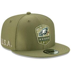 Philadelphia Eagles New Era Salute to Service Sideline 9FIFTY Snapback  Hat