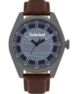 Mens Wristwatch TIMBERLAND ASHFIELD TBL.16005JYU/03 Leather Brown Blue