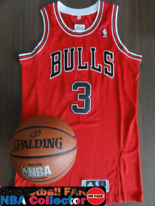 Maillot / Jersey NBA Adidas Authentic Chicago Bulls Dwyane Wade Size L TWILL