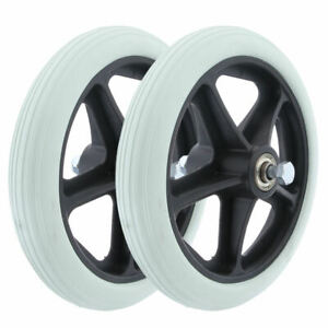 2pcs 7 Inch Solid Tyre Front Caster Walking Aids Wheelchairs Replacement Wheel,