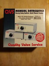 QVS Manual Dataswitch ABCD, Gold Contacts, New In Box
