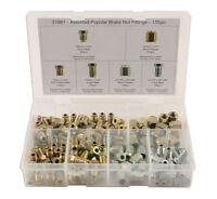 Brake Pipe Nut Fittings Set / Box 135 Pcs Male Female Short Full Thread MM & UNF
