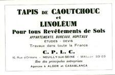 Publicité ancienne tapis de caoutchouc et linoléum 1949 issue de magazine