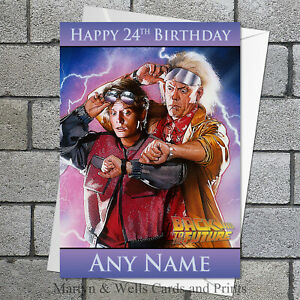 Back to the Future birthday card. 5x7 inches. Personalised, plus envelope.