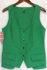 Gilet da donna in cotone verde