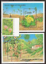 Gambia, Blumen Mi 698 + Block 35/36 postfrisch KW 18,00€, M15