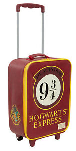 Harry Potter Carry On Suitcase Wheeled Hogwarts Holiday Travel Bag With Handle