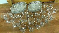 Federal Glass Hospitality Snack Set Homestead Plates Cups Mugs Wheat 36 Pc