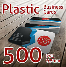Plastic Business Cards 500 PCS- Full Colour PVC 0.7mm like bank/credit card
