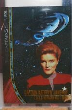 STAR TREK VOYAGER PROFILES CAPTAIN'S CARD JANEWAY KATE MULGREW 4OF4 <>360/1200