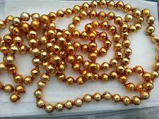 "� Vtg Mercury Glass Christmas Feather Tree Garland Gold 1/2"" Beads Japan"