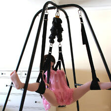 Sex Swing Stand with Wrist Restraints Clamp Belt for Couples/Swing for Yoga