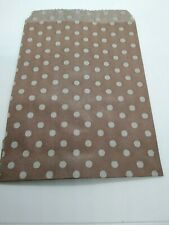 Bags Paper Of Gift Colour Brown Hazelnut Printed 20 Units