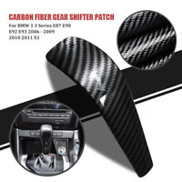 For BMW E90 E92 E93 E87 2006-2012 Carbon Fiber Gear Shift Knob Decorative Trim