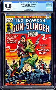 TEX DAWSON GUN-SLINGER 1 CGC 9.0 WHITE - DOUBLE COVER-JIM STERANKO-RARE-MARVEL