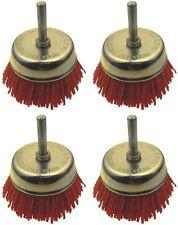 4 Stück Nylon Schleifbürsten, Ø 75mm für Bohrmaschine und Akkuschrauber