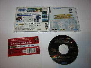 Heavenly Symphony Formula One Sega Mega CD Japan import + spine card US Seller