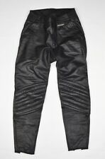 Vintage Dainese Lederhosen Schwarz Gr 48 Leather Pants Black Motorcycle Italy