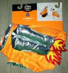 NEW NWOT orange silver PUPPY DOG HALLOWEEN ASTRONAUT COSTUME size XS CUTE!