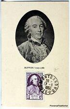 France Carte Maximum  1950 COMTE DE BUFFON    Yt 856