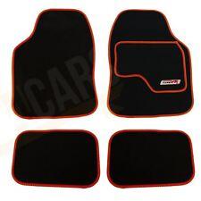 4 x Black  Carpet Floor Mats with Red Trim fits Toyota Prius Avensis Aygo Yaris