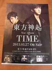 TVXQ TOHOSHINKI - Time [OFFICIAL] POSTER K-POP *NEW*