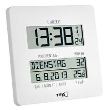 Radio-Controlled Wall Clock Radio Controlled Timeline Tfa 60.4509.02 Date DCF-77
