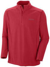 Columbia Herren Fleeceshirt Fleecepullover Shirt langarm rot Gr. S 46 NEU