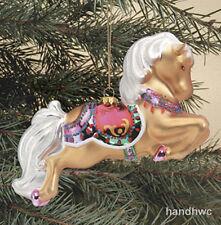 Breyer 700667 Ginger Glass Blown Christmas Holiday Palomino Horse Ornament NIB