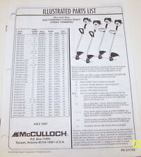 McCULLOCH TRIMMER MAC 2816/2818; EAGER BEAVER 282/287 OEM ILLUSTRATED PARTS LIST