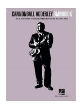 Cannonball Adderley Omnibook E Flat Instruments ALTO SAX SAXOPHONE MUSIC BOOK