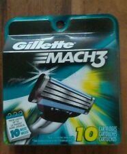 GILLETTE MACH3 Razor Blades,10 Cartridges,Original package,Brand New