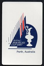 AMERICAS CUP PERTH  Vintage Playing Swap Card