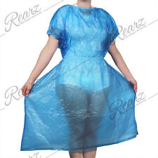 Adult incontinent PVC Medical Gown Dress  Baby Blue   Large