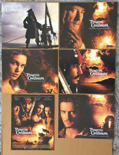 PIRATES OF THE CARIBBEAN CURSE OF THE BLACK PEARL LOBBY CARD SET ORIGINAL 11x14
