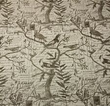 "LACEFIELD DESIGNS LOVE NEST CEDAR BROWN BIRD SCRIPT FABRIC BY THE YARD 55""W"