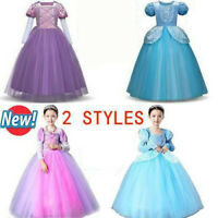 NEW Kids Girl Princess Costume Cinderella Fairytale Dress Up Rapunzel Dresses