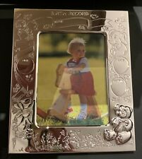 NEW Silver Plated Engrave-able Baby Photo Frame