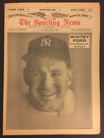 1964 Sporting News NEW YORK Yankees WHITEY FORD No Label CHAIRMAN OF THE BOARD