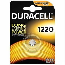 2 X litio de Duracell DL 1220 Dl1220 Cr1220 hasta 2021