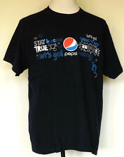 Pepsi Logo Navy Blue Positive Messages and Words S/S T-Shirt XL