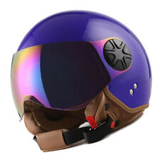 New 1Storm DOT Motorcycle Scooter Bike Open Face 3/4 Helmet Glossy Blue
