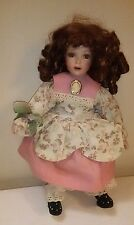 """Julie Musical Porcelain Doll Paradise Galleries By Phyllis Wright 14"""" Red Hair"""