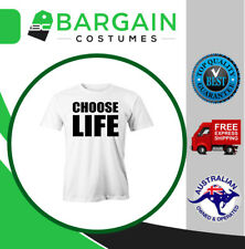 Choose Life T Shirt George Michael Wham 80s Music Party Fun Printed Tee Costume