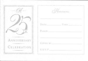 Celebrating 25 Years 25th Wedding Anniversary Invitations By Hallmark Set of 14