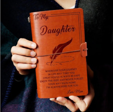 To My Daughter Where Ever Love Mom Engraved Leather Journal Notebook Diary A6