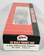 Atlas HO Scale Santa Fe 2 Bay Offset Side Hopper ATSF 180810 New