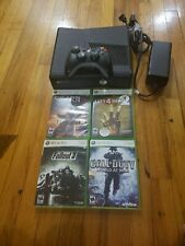 Microsoft Xbox 360 S 4GB Black Console With Power Cord 1 controller +4 games
