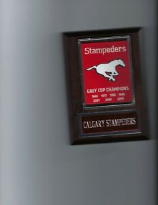 CALGARY STAMPEDERS PLAQUE FOOTBALL CFL CHAMPS