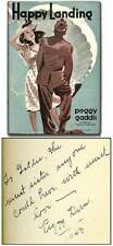 Peggy GADDIS, DERN / Happy Landing Signed 1st Edition 1940